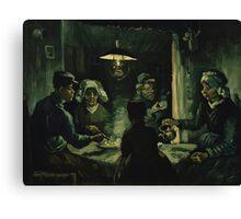 Vincent Van Gogh - The potato eaters 1885 Canvas Print