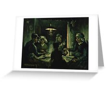 Vincent Van Gogh - The potato eaters 1885 Greeting Card