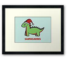 Santasaurus  Framed Print