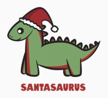 Santasaurus  One Piece - Short Sleeve
