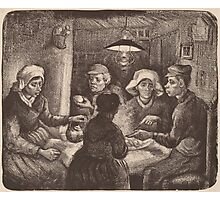 Vincent Van Gogh - The potato eaters 1885 (sketch) Photographic Print