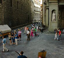 Street musician in Florence by donberry