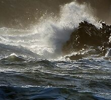 Stormy Seas in North Wales by Johindes