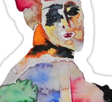 Watercolor woman Sticker