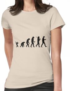 Human evolution Womens Fitted T-Shirt