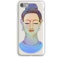 Blue buddha close up iPhone Case/Skin