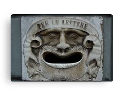 Mail slot in Lucca Canvas Print