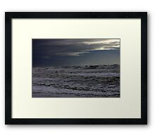 Winter storm on the high sea Framed Print