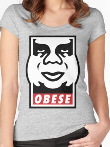 OBESE Women's Fitted Scoop T-Shirt