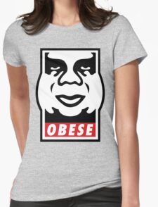 OBESE Womens Fitted T-Shirt