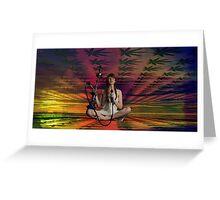 Rasta Yin Yang Riot - Nettie & Hookah Greeting Card