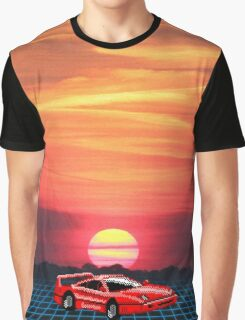 80's Retro Sunset Graphic T-Shirt