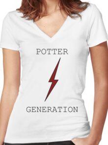 Potter Generation Women's Fitted V-Neck T-Shirt