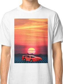80's Retro Sunset Classic T-Shirt