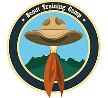 Scout camp logo Photographic Print