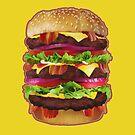 Jumbo Bacon Cheeseburger Phone Case by David Ayala