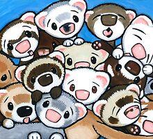 16 Ferrets by Shelly  Mundel