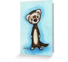 A Ferret Greeting Card