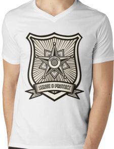 Police Badge Mens V-Neck T-Shirt