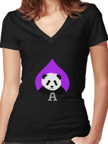 Asexual Pride Women's Fitted V-Neck T-Shirt