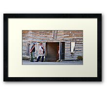 The Butcher and Blacksmith. Framed Print