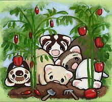 Garden Weasels by Shelly  Mundel