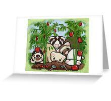 Garden Weasels Greeting Card