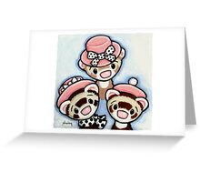Girls in Hats Greeting Card