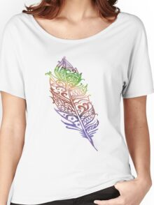 Color feather Women's Relaxed Fit T-Shirt