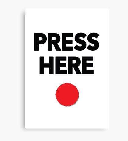 Press Here - Red Dot Canvas Print