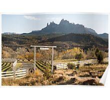 Grand View Ranch and Eagle Crags Springdale Utah Poster