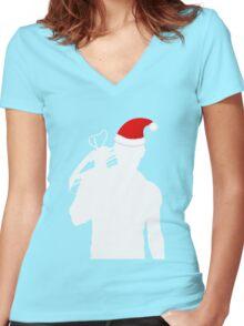 Daryl Dixon Textless Christmas Design (Light) Women's Fitted V-Neck T-Shirt