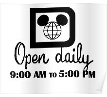 Open Daily Poster