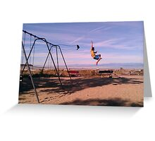 Swing Jump! Greeting Card