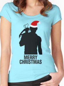 Daryl Dixon Christmas Design (Dark) Women's Fitted Scoop T-Shirt
