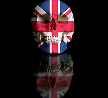 UK Flag Union Jack Skull by KittyBitty1