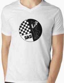 Ska Music Man Mens V-Neck T-Shirt