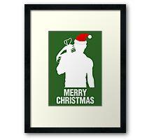 Daryl Dixon Christmas Design (Light) Framed Print