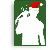 Daryl Dixon Textless Christmas Design (Light) Canvas Print