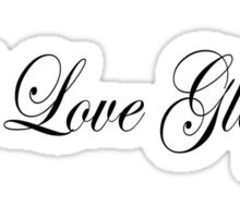 I Love Glögg  - Black Lettering by Elisabeth and Barry King™ Sticker