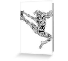 Newsies Jumper 2.0 Greeting Card