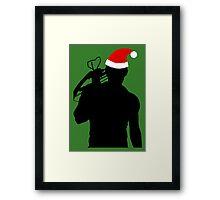 Daryl Dixon Textless Christmas Design (Dark) Framed Print