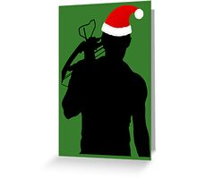 Daryl Dixon Textless Christmas Design (Dark) Greeting Card