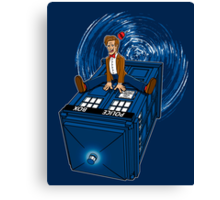 How I learned to love the Tardis. Canvas Print