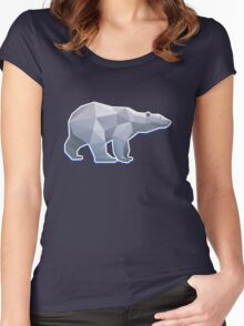Origami Bear Women's Fitted Scoop T-Shirt
