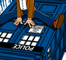 How I learned to love the Tardis. Sticker
