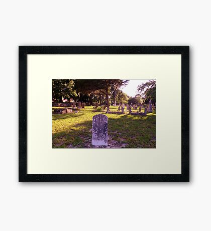 Oldest Cemetery Artistic Photograph by Shannon Sears Framed Print