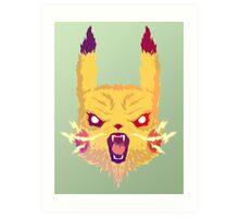 Voltage Pikachu Art Print