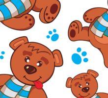 teddy bear pattern Sticker