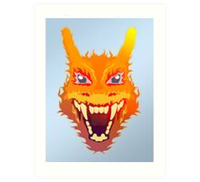 Flaming Charizard Art Print